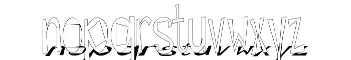 Hesitant Shadow Font LOWERCASE