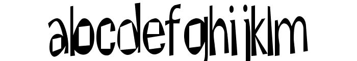 Hesitant Font LOWERCASE