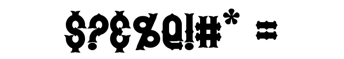 Hetfield Bold Font OTHER CHARS