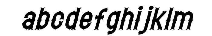 Hetfield Italic Font LOWERCASE