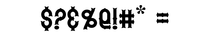 Hetfield Font OTHER CHARS