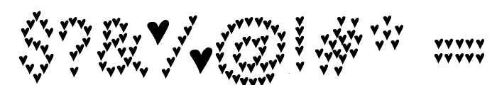 heart heaven Font OTHER CHARS