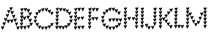 heart heaven Font UPPERCASE