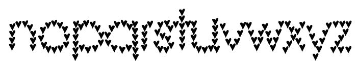 heart heaven Font LOWERCASE