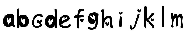 heartfont Font LOWERCASE