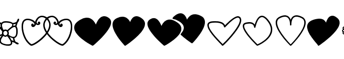 hearts and flowers for valentines Font UPPERCASE