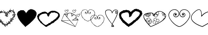hearts shapess tfb Font UPPERCASE