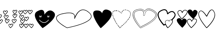 hearts shapess tfb Font LOWERCASE