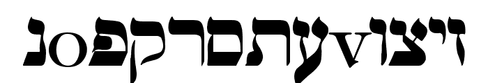 hebrew Font LOWERCASE