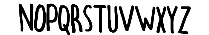 hectic Font UPPERCASE