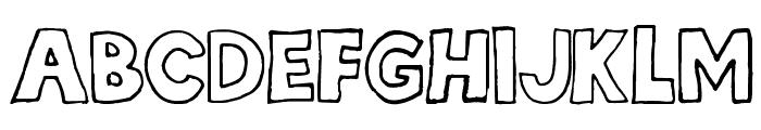 hellafont Font UPPERCASE