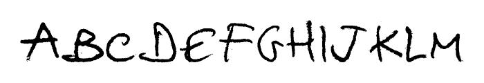 hellphabet Font UPPERCASE