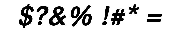 helvari Bold Italic Font OTHER CHARS
