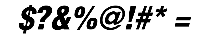 HelveticaLTStd-BlkCondObl Font OTHER CHARS