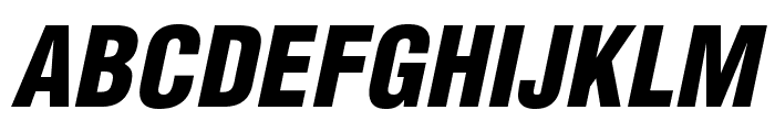 HelveticaLTStd-BlkCondObl Font UPPERCASE