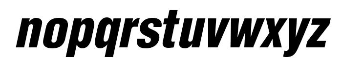 HelveticaLTStd-BlkCondObl Font LOWERCASE