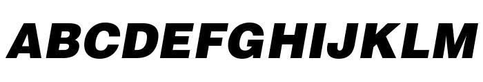 HelveticaLTStd-BlkObl Font UPPERCASE