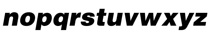 HelveticaLTStd-BlkObl Font LOWERCASE