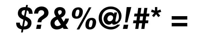 HelveticaLTStd-BoldObl Font OTHER CHARS