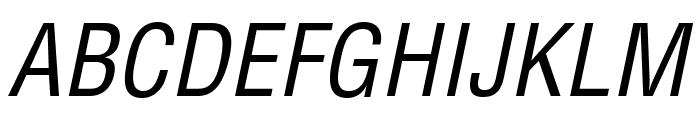 HelveticaLTStd-CondObl Font UPPERCASE