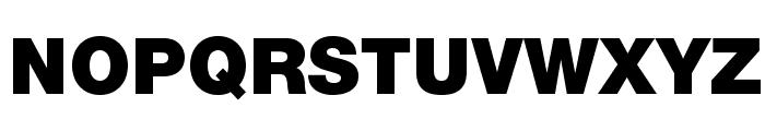 HelveticaNeueLTStd-Blk Font UPPERCASE