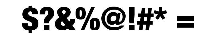 HelveticaNeueLTStd-BlkCn Font OTHER CHARS