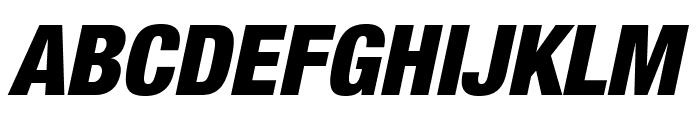 HelveticaNeueLTStd-BlkCnO Font UPPERCASE