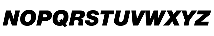 HelveticaNeueLTStd-BlkIt Font UPPERCASE