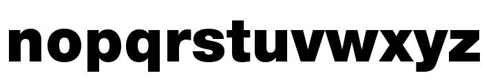 HelveticaNeueLTStd-Blk Font LOWERCASE