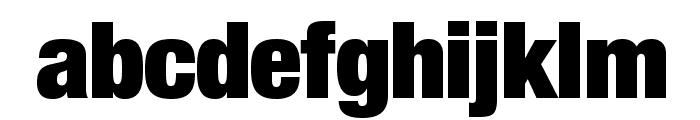 HelveticaNeueLTStd-XBlkCn Font LOWERCASE