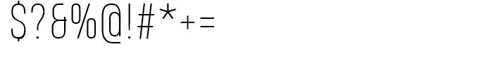 Heading Pro Smallcase Pro Thin Font OTHER CHARS