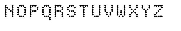 Heart Matrixed Regular Font UPPERCASE