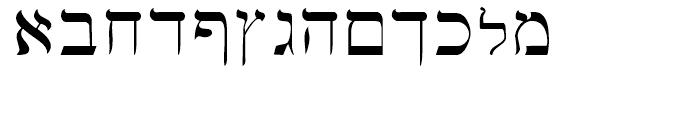 Hebrew Basic Regular Font LOWERCASE