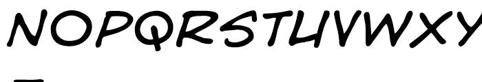 Hedge Backwards Lower Intl Italic Font UPPERCASE