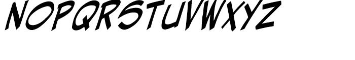 Hellshock Bold Italic Font UPPERCASE