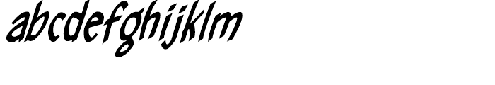Hellshock Bold Italic Font LOWERCASE