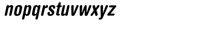 Helvetica Rounded Condensed Bold Oblique Font LOWERCASE