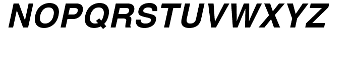 Helvetica Textbook Bold Oblique Font UPPERCASE