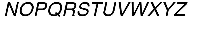 Helvetica Textbook Oblique Font UPPERCASE