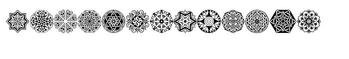 Henman Pict Three Font UPPERCASE