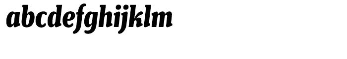 Henriette Compressed Heavy Italic Font LOWERCASE