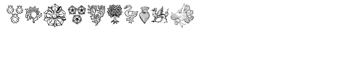 Heraldic Devices Premium One Font OTHER CHARS