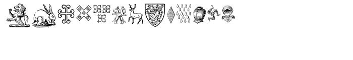 Heraldic Devices Premium One Font UPPERCASE