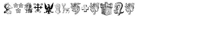 Heraldic Devices Premium One Font LOWERCASE