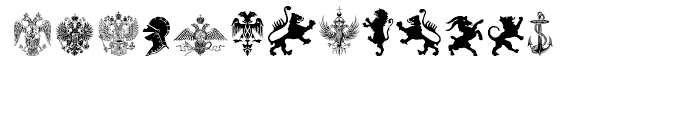 Heraldic Devices Premium Two Font LOWERCASE