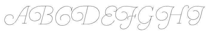 Heroe Monoline Big Pro Font UPPERCASE