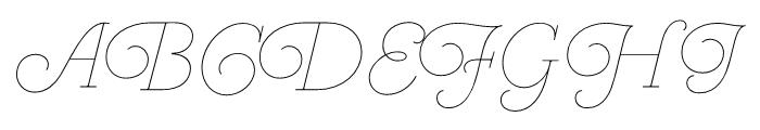 Heroe Monoline Small Pro Font UPPERCASE