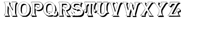 Herr Foch Shadow Font UPPERCASE