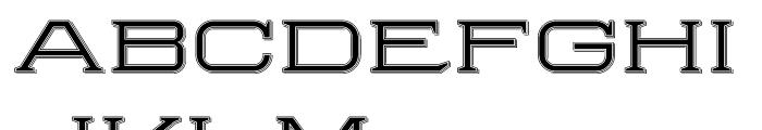 Herradura Inline Shadowed Font UPPERCASE