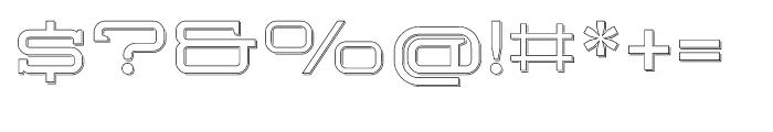 Herradura Outline Shadowed Font OTHER CHARS